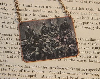 Black History Jewelry Military history African American jewelry necklace mixed media jewelry