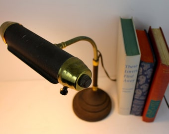 Vintage Cast Metal Piano Lamp Table Reading Lamp Adjustable height