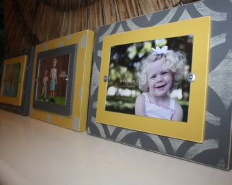 Unique Gift, Distressed Picture Frame, picture frame, Wall Collage, 5x7 Picture Frames, 5x7 Frames, Wood Plank Frames