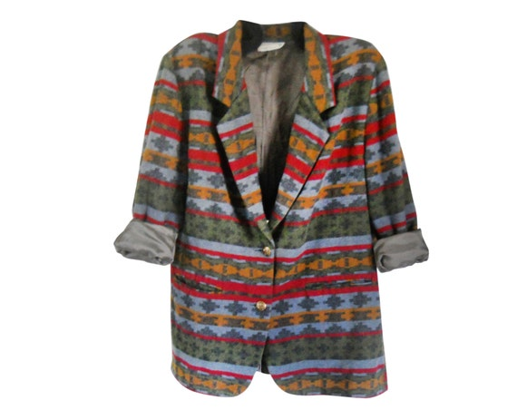 Plus Size Southwest Boho Women's Clothing Plus Size Blazer Boho