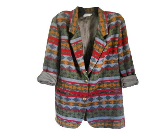 Plus Size Southwest Boho Women's Clothing Plus Size Blazer Boho