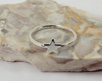 Star Stacking Ring, Sterling Silver, Made to Order