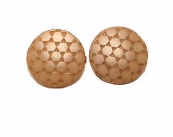 Vintage Geometric Clip On Earrings