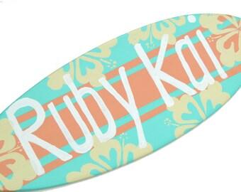 Surfer Girl Beach Decorations, Surf Decor, Surfboard Wall Art, Personalized Beach Signs, Pre Teen Girls Decor, Tween Girl Gift, Teens Room