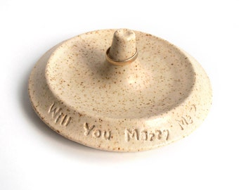 I love you! Will you marry me? Ceramic Ring Holder / Proposal Idea