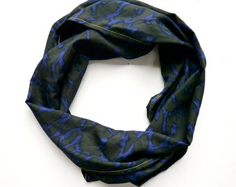 Blue and Gray Leopard Print Lightweight Scarf- Limited Edition- Accessory