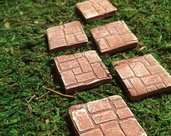 Fairy garden miniature accessories 6 Stepping stones terrarium miniatures gnome hobbit fairy garden miniature garden