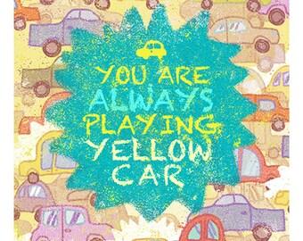"Cabin Pressure ""Yellow Car"" Prints&Cards"