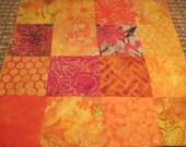 "14"" x 14"" Batiks Pillow COVER - Celebrate Vibrant Yellow Sunshine Nature Butterflies Garden with Bold Orange"