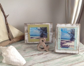 "Two 4""x 6"" Distressed Picture Frames"