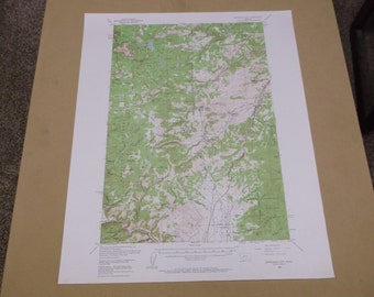 Vintage 1961 Jefferson City, Montana Geological Survey Map