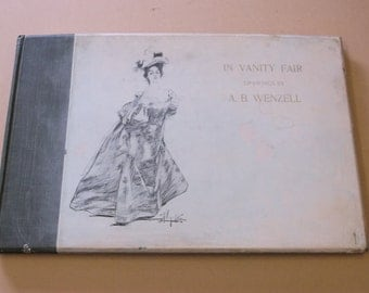 1896 A.B. Wenzell Drawings, In Vanity Fair Art Book