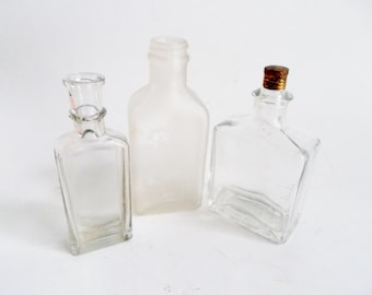 Vintage Set of 3 Apothecary Jars 1900's Upstate NY Collectible