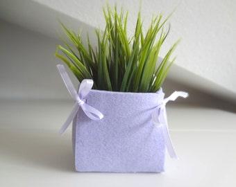 Purple felt basket