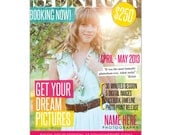 INSTANT DOWNLOAD - Photoshop Photography Senior Marketing board  - Magazine Cover Style - E775
