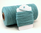 Solid Teal Baker's Twine . Teal Divine Twine . Teal cotton Twine . Pastel blue twine . Light Blue . Misty Blue . Choose Any Number of Yards