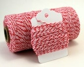 Valentine Twine . Red, Pink and White Striped Twine . Peppermint Divine Twine . Valentine's Day Gift Wrap . Choose Any Number of Yards