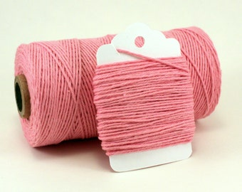 Light Pink Twine - Baby Girl Gift Wrap - Pink Cotton String - 4-ply Pink String - Cotton Candy Divine Twine - DIY Baby Shower Twine