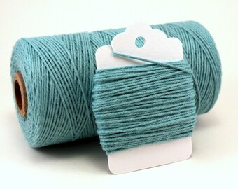 Teal Twine - Teal Cotton Bakers Twine - Pastel Blue Twine - 4-ply Teal String - Teal Divine Twine - Light Blue Twine - Ocean Blue Twine