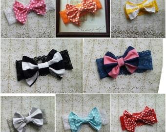 Boho bow headband
