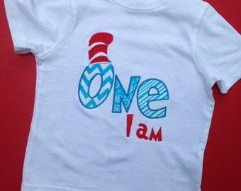 One I am Dr Suess Birthday Shirt, Dr Suess Birthday Shirt, Two I am Birthday shirt, Three I am Birthday Shirt