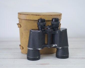 Vintage Binoculars And Case Lunar 7 x 50 Field 7.1 Model Number 44724