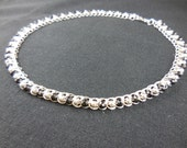 RESERVED FOR ROBERTA:  Stering Silver and Black Spinel 1/2 Persian 3-in-1 Necklace