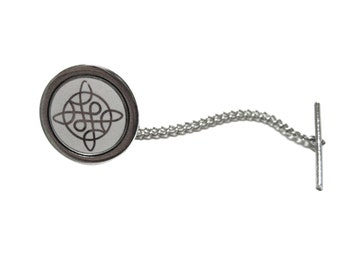Silver Colored Celtic Design Tie Tack