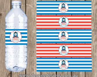 Thomas The Tank Engine Themed Water Bottle Labels - YOU PRINT