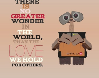 walle, love for others, pixar, inspirational quote.. . instant download jpeg