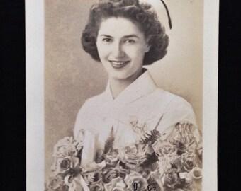 Original Antique RPPC Photograph Nurse Adalene