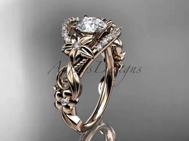 14kt rose gold diamond unique engagement ringwedding ring adlr211 - Best Place To Buy A Wedding Ring