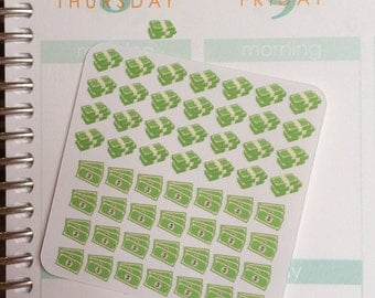 Tiny Money Stickers, Pay Day Stickers, Money Planner Stickers, Pay Day Planner Sticker, Payday Sticker, set of 56