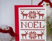 SALE - Nordic Noel Holiday Card