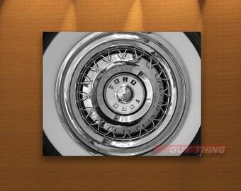 Wheel Picture, Ford Car, Thunderbird, T-Bird, Ford Photos, Ford Thunderbird, Car Art, Automobile Art, T Bird, Wheel Art, Hub Cap