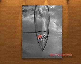 Corvette Photograph, Car Art, Corvette Picture, Corvette Gift, Black and White, Chevy Picture, Chevrolet, Boyfriend Gift, Art Photography