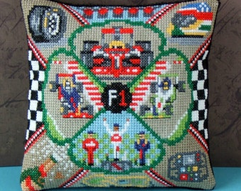Formula 1 Grand Prix Mini Cushion Cross Stitch Kit