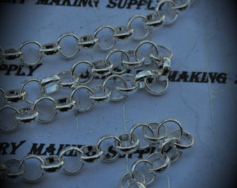 36 Inch Silver Plated Rolo Chain