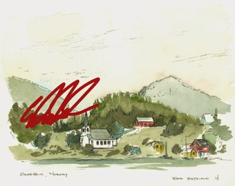 Original Norway Watercolor