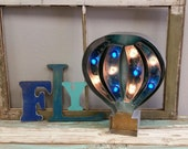 Large Metal Hot Air Balloon Marquee Art…. Baby Family Room Boys Room Gift Birthday Wedding Play Room