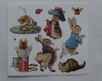 Stickers Beatrix Potter Peter Rabbit Spring Victorian Story Book