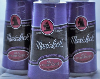 Maxi-Lock serger thread, purple (43399) - 1 cone