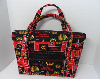 Quilted Purse - Quilted Tote - Market Bag - Shopping Bag - Overnite Bag - Quilted Diaper Bag - NHL Tote - Shoulder Bag - NFL Tote