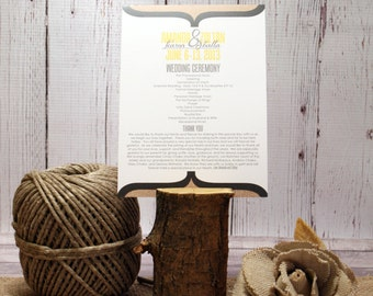 "Rustic Wedding Ceremony Program – Country Wedding Program – Vintage Program – Custom Burlap Program – ""Burlap Beauty"" Deposit"