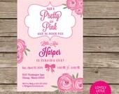 DIY Printable or Printed Pretty in Pink Invitation