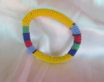 South Africa bracelet handmade from beads/ Beads bracelet