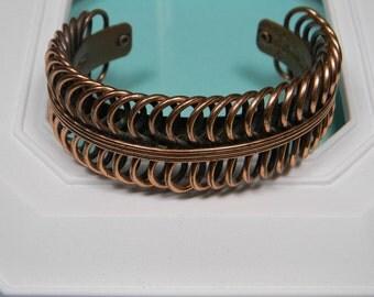 50s Renoir Copper Bracelet or Cuff, Signed, Modern Classic