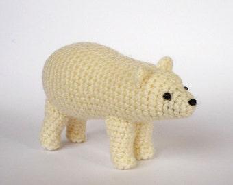 Realistic crocheted spirit bear (Kermode bear)