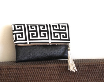 Woman clutch bag with faux leather for her gift, clutch for party, party fashion, party bag