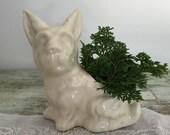 Vintage scotty dog planter / vase / air plant holder